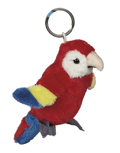 Scarlet Macaw Keyring, 10cm