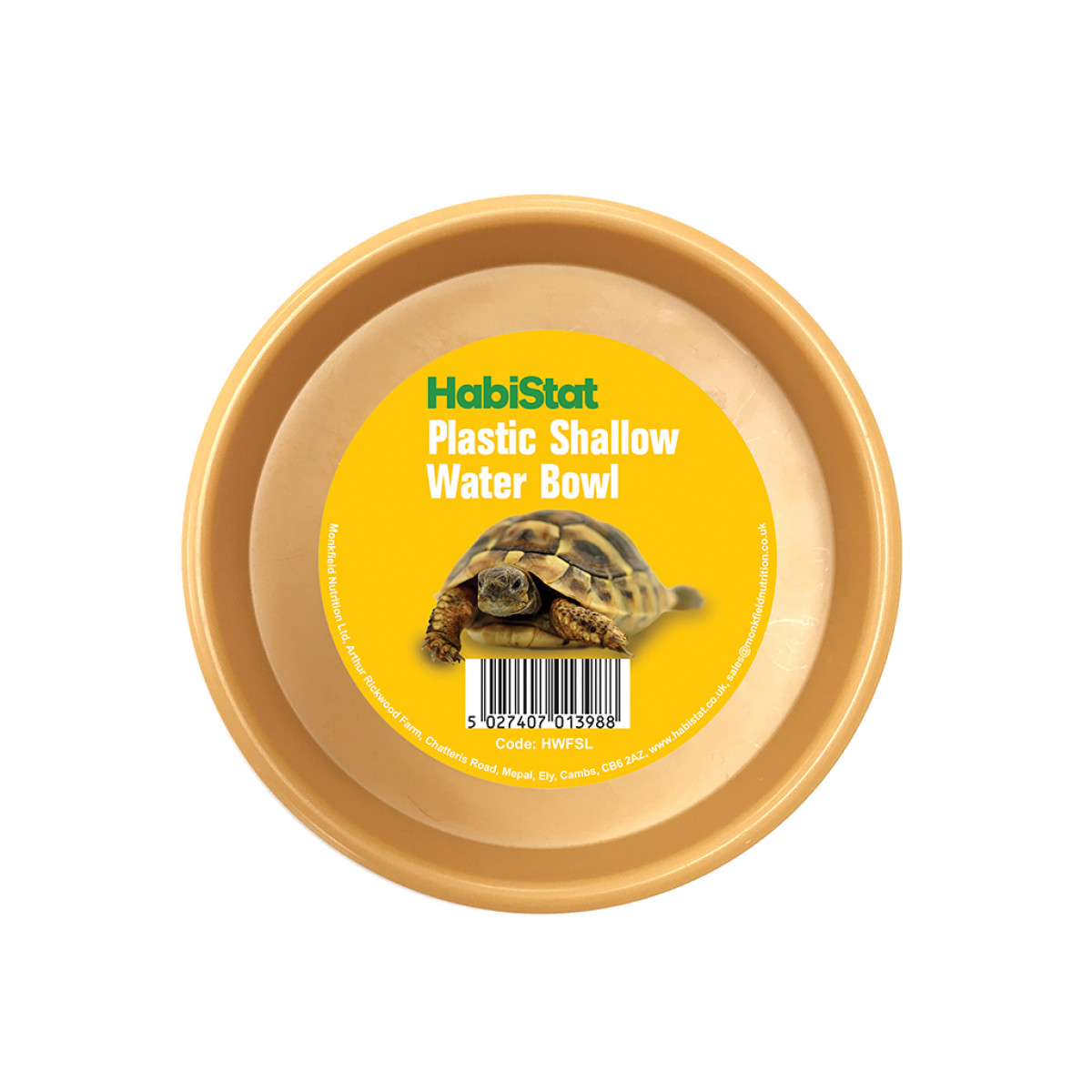 HabiStat Plastic Shallow Tortoise Water Bowl