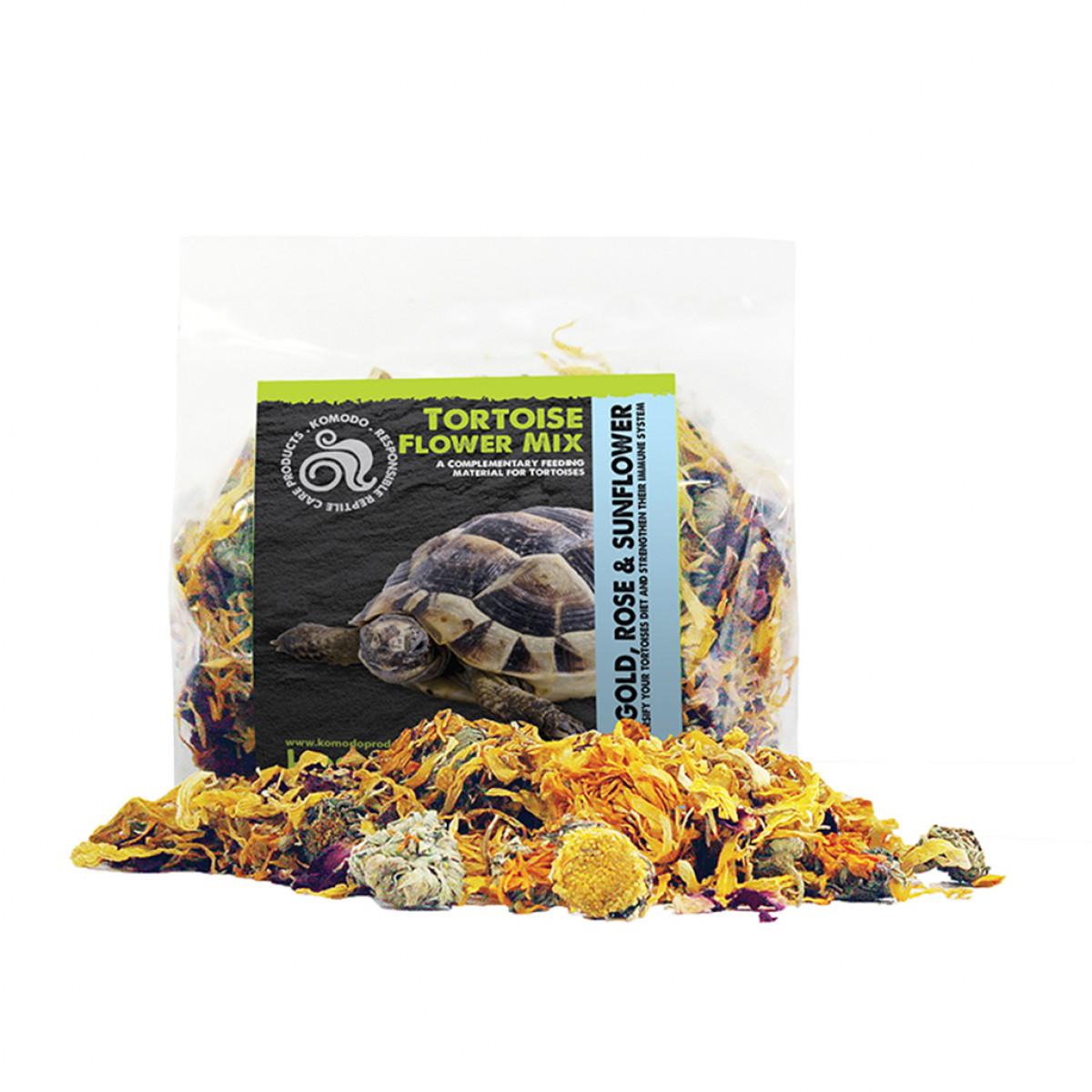 Komodo Tortoise Flower Mix, 60g