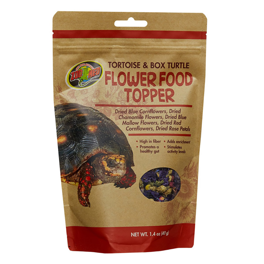 Zoo Med Tortoise and Box Turtle Flower Food Topper, 40g