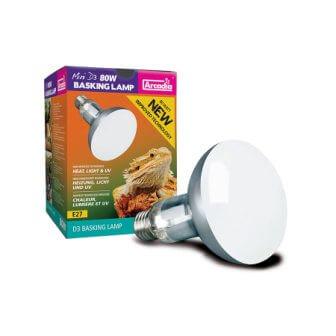 Arcadia Mini D3 UV Basking Lamp, 80w
