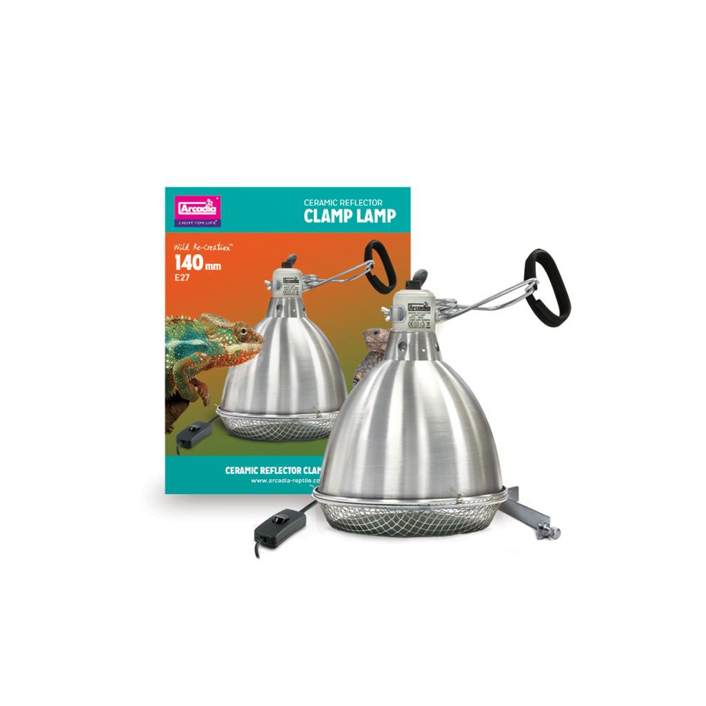 The Tortoise Den Arcadia Ceramic Reflector Clamp Lamp 140mm