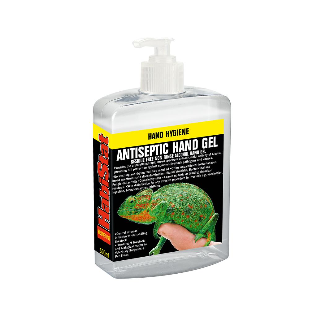 HabiStat Antiseptic Hand Gel, Flip-Top Lid, 500ml
