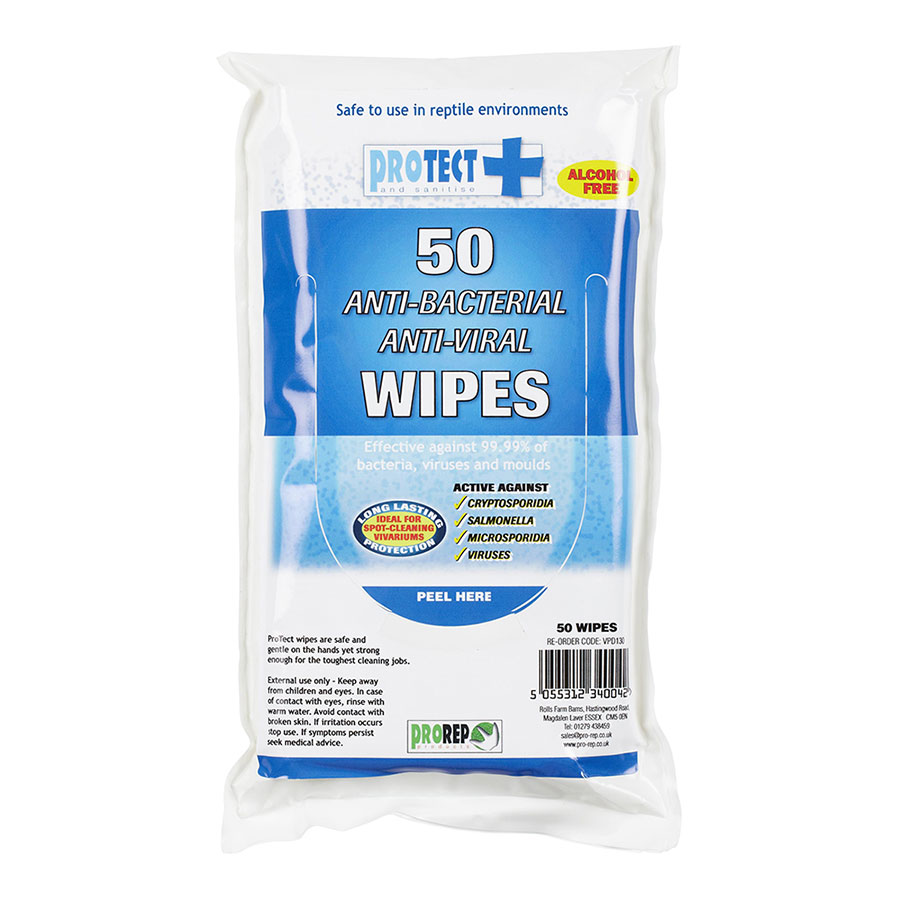 Pro Rep ProTect Hand and Surface wipes, 50 pack
