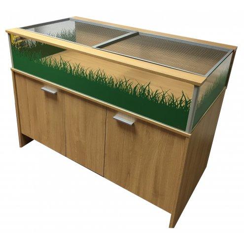 Viv Exotic DLX Large Tortoise Table and Cabinet - Oak (3ft 9