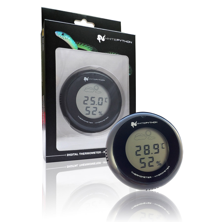 White Python Digital Thermometer and Hygrometer