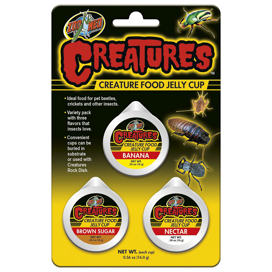 Zoo Med Creatures Food Jelly Cups, 3 Pack