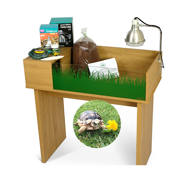 Marginated Tortoise Viv Exotic Viva Tortoise Table and Stand Package