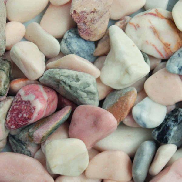 Decorative Stones - Flamingo, Grey/Pink/White (Approx 1kg)