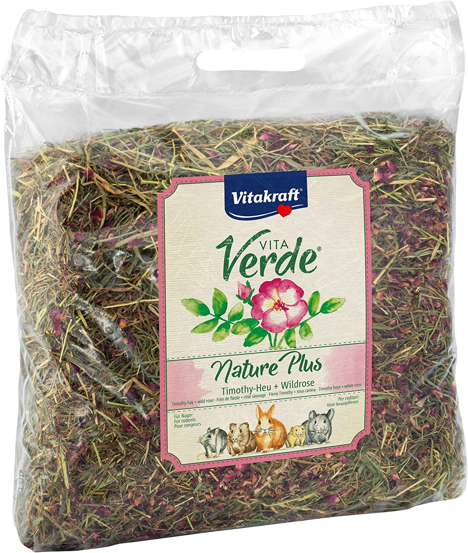 Vitakraft Vita Verde, Nature Plus - Timothy Hay + Wild Rose, 500g
